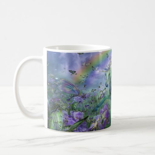 Unicorn Butterflies And Ranbows Coffee Mug