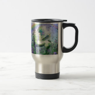 Unicorn Butterflies And Ranbows 15 Oz Stainless Steel Travel Mug