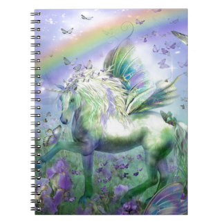 Unicorn Butterflies And Ranbows Notebook
