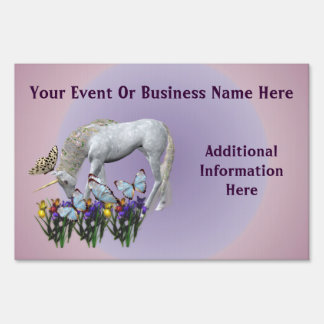 Unicorn Butterflies Business Or Event Sign