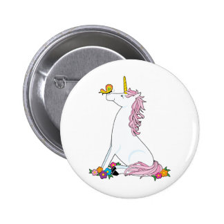 Unicorn Butterfly Pinback Button