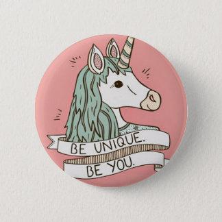 Unicorn button 5.7 cm round