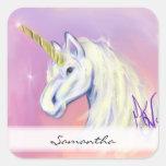 Unicorn by: Mendi Vernatter Square Sticker