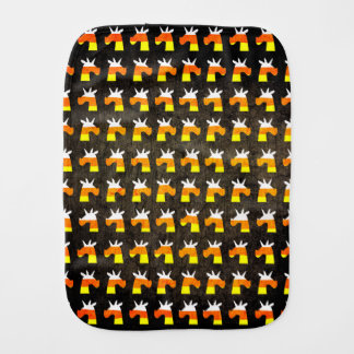Unicorn Candy Corn Baby Burp Cloth