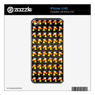 Unicorn Candy Corn iPhone 4S Decals