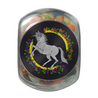 Unicorn Candy Jar Glass Jars