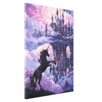 Unicorn Castle Art Canvas Print
