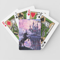 Unicorn Castle Bicycle Playing Cards