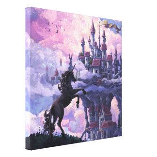 Unicorn Castle Canvas Print