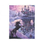 Unicorn Castle magical mythical fairytale fantasy Fleece Blanket