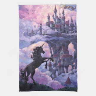 Unicorn Castle Hand Towels