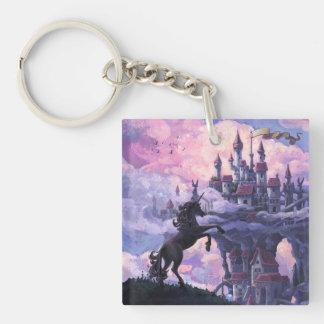 Unicorn Castle Keychain