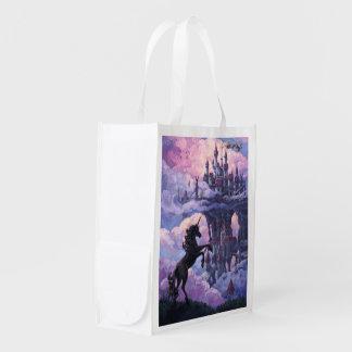 Unicorn Castle Grocery Bags