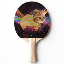 Unicorn cat - taco cat - space cat - tabby cat Ping-Pong paddle