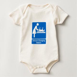 Unicorn Changing Station Baby Bodysuit