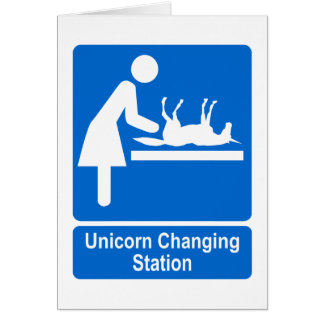 Unicorn Changing Station Card