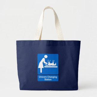 Unicorn Changing Station Large Tote Bag