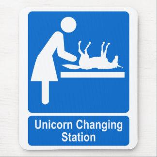 Unicorn Changing Station Mouse Pad