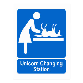 Unicorn Changing Station Postcard