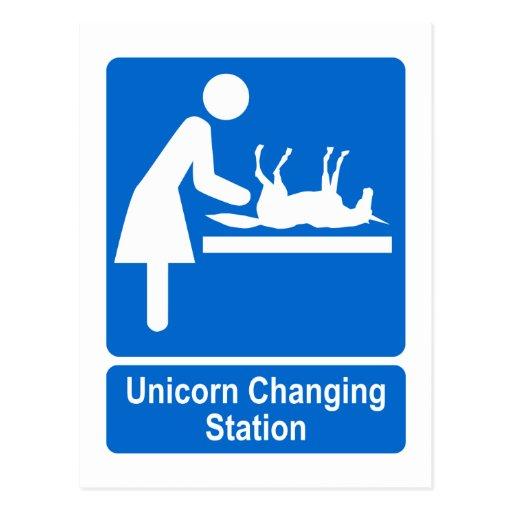 Unicorn Changing Station Postcards