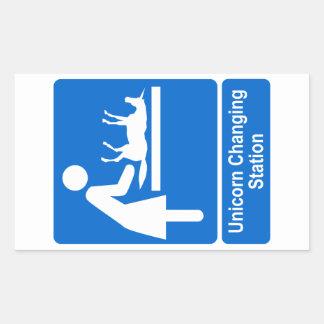 Unicorn Changing Station Rectangular Sticker
