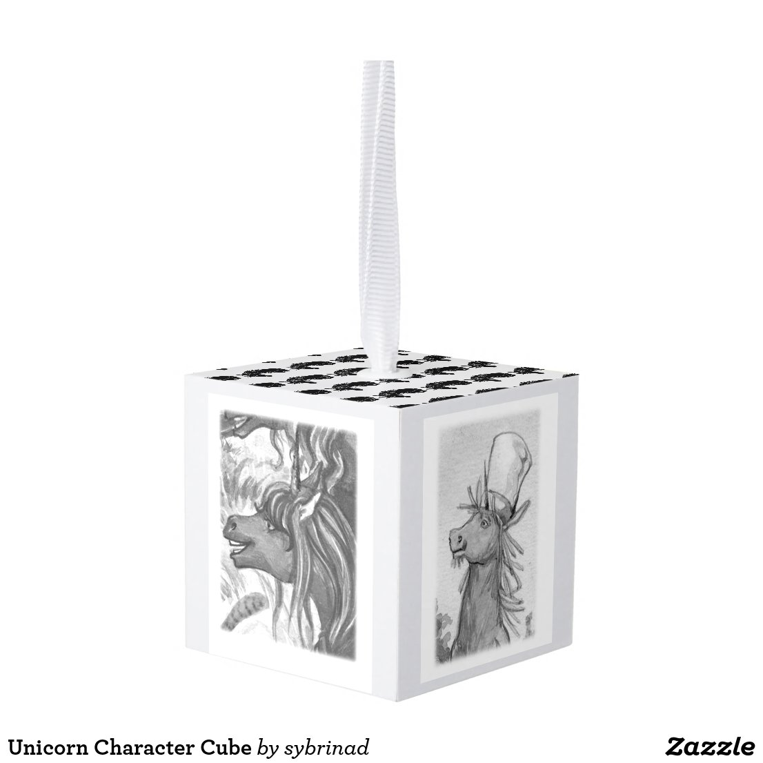 Unicorn Character Cube Cube Ornament