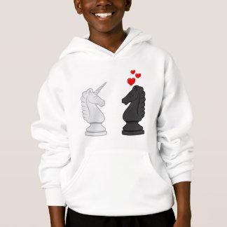 Unicorn Chess Knight Hoodie