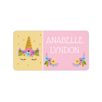 Unicorn Child School Name Labels | Editable Color