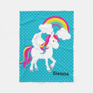 Unicorn * Choose your background color Fleece Blanket