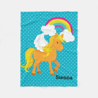 Unicorn * Choose your background color Fleece Blanket