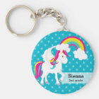 Unicorn * Choose your background color Keychain