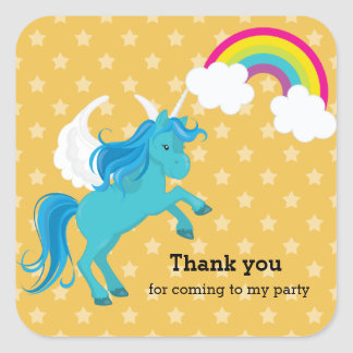 Unicorn * Choose your background color Square Sticker