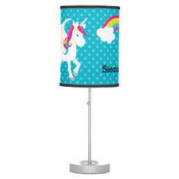 Unicorn * Choose your background color Table Lamp