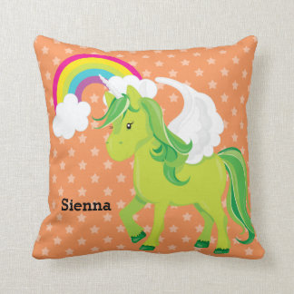 Unicorn * Choose your background color Throw Pillow