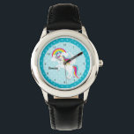 """Unicorn * Choose your background color Wrist Watch<br><div class=""""desc"""">Copyright  &#169;Pretty Grafik. Feel free to contact for a request or question.</div>"""