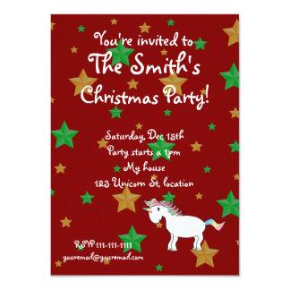 Unicorn christmas invitation