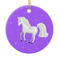 Unicorn Christmas Ornament ornament