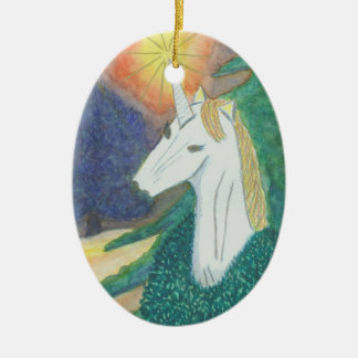 """Unicorn Christmas"" Ornament"