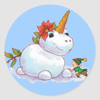 Unicorn Christmas Stickers