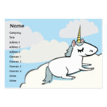 Unicorn - Chubby Large Business Cards (Pack Of 100)