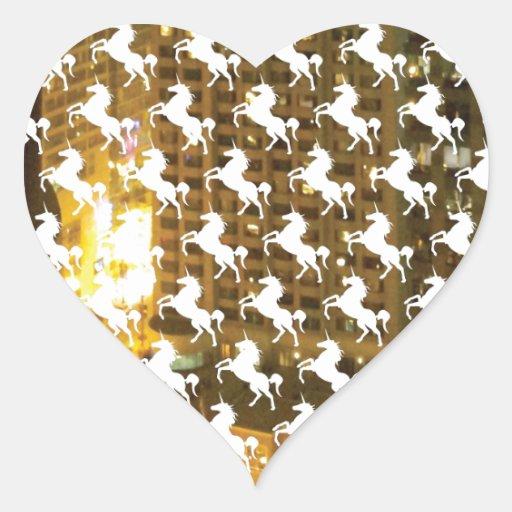 Unicorn City Heart Sticker