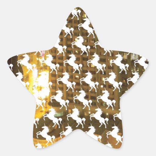 Unicorn City Star Sticker