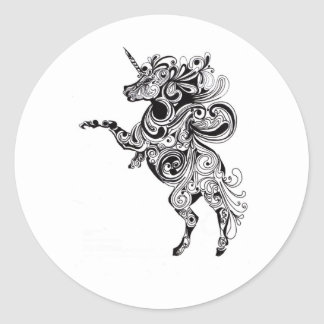 unicorn classic round sticker