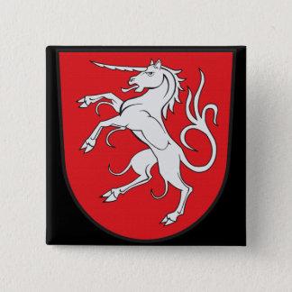 Unicorn Coat of Arms - Schwabisch Gmund Germany Button