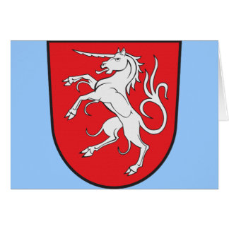 Unicorn Coat of Arms - Schwabisch Gmund Germany Card