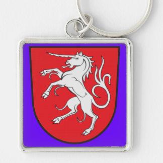 Unicorn Coat of Arms - Schwabisch Gmund Germany Keychain