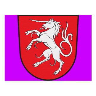 Unicorn Coat of Arms - Schwabisch Gmund Germany Postcard