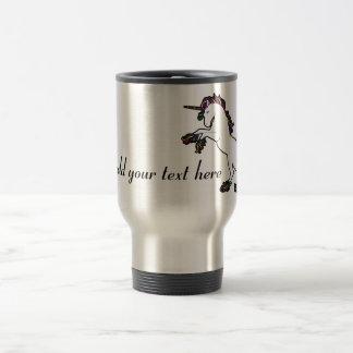 Unicorn Cornified and Customizable Travel Mug
