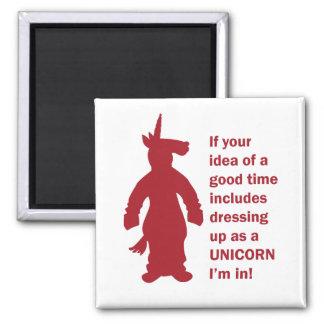 Unicorn Costume Magnet