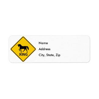 Unicorn Crossing Highway Sign Label